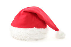 Santa furry red  hat Royalty Free Stock Photos