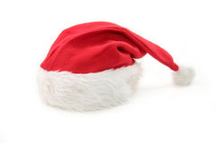 Santa furry red  hat Stock Photo