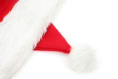 Santa furry red  hat Stock Image