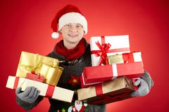 Santa généreuse photo stock