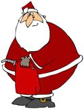 Santa With A Gas Can royalty free illustration