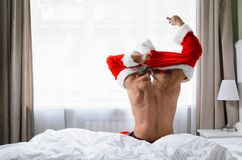 Santa getting ready for Christmas Stock Photography