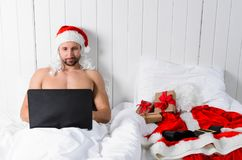Santa getting ready for Christmas Stock Images