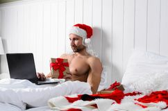 Santa getting ready for Christmas Royalty Free Stock Photography