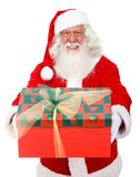 Santa with a gift Stock Image