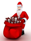 Santa and gift Royalty Free Stock Photo
