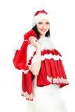 Santa with gift bag Royalty Free Stock Photography