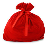 Santa gift bag royalty free stock image
