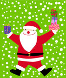 Santa with gift box Stock Images