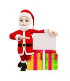 Santa with gift box for Christmas Stock Image