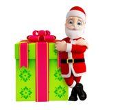 Santa with gift box for Christmas Royalty Free Stock Image