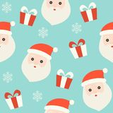 Santa and gift box, christmas seamless pattern theme, for use as royalty free illustration