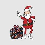Santa and gift boxes Stock Photos