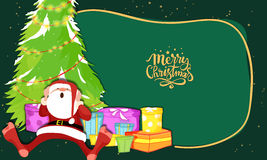 Santa with gift boxes for Merry Christmas. Stock Image