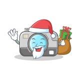 Santa with gift camera caharacter cartoon design. Vector illustration Stock Image