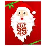 Santa Gift Card royalty-vrije illustratie