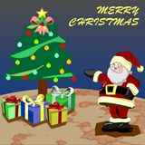 Santa gift christmas design art royalty free stock image