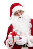 Santa with gift Stock Image