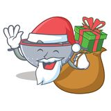 Santa with gift colander utensil character cartoon Stock Photography