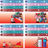 Santa and gift for everybody Royalty Free Stock Images