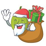 Santa with gift gooseberry mascot cartoon style. Vector illustration Royalty Free Stock Image