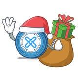 Santa with gift Gxshares coin mascot cartoon. Vector illustration Royalty Free Stock Photos
