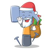 Santa with gift hammer character cartoon emoticon Royalty Free Stock Photography