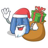 Santa with gift jelly character cartoon style Royalty Free Stock Photo
