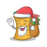 Santa with gift kebab wrap character cartoon. Vector illustration vector illustration