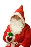 Santa with Gift Loop Royalty Free Stock Photos