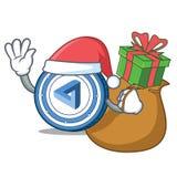 Santa with gift MaidSafeCoin mascot cartoon style. Vector illustration Stock Photography