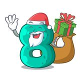 Santa with gift number eight volume logo the mascot. Vector illustration royalty free illustration