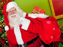 Santa with gift sack Royalty Free Stock Photo