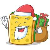 Santa with gift sponge cartoon character funny Stock Photography