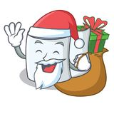 Santa with gift tissue character cartoon style. Vector illustration Stock Image