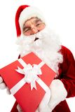 Santa with giftbox Stock Images
