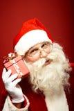 Santa with giftbox Royalty Free Stock Photo
