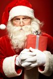 Santa with giftbox Royalty Free Stock Images