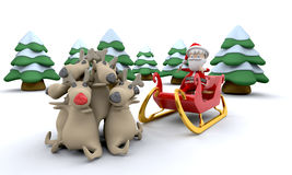 Santa and gifts Stock Photography