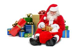 Santa with gifts Stock Photo