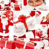 Santa and gifts Stock Photography