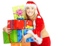 Santa with gifts Royalty Free Stock Photos