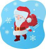 Santa with gifts Royalty Free Stock Images