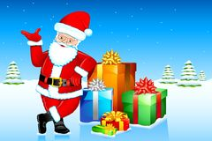 Santa with Gifts Royalty Free Stock Photos
