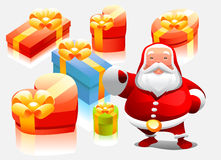 Santa with gifts stock illustration
