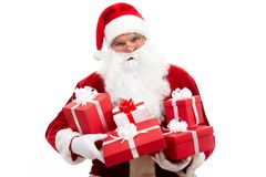 Santa with gifts Royalty Free Stock Image