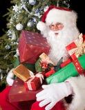 Santa with gifts Royalty Free Stock Image