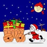 Santa and Gifts Royalty Free Stock Photo