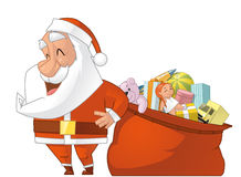 Santa and gifts ball Royalty Free Stock Photo