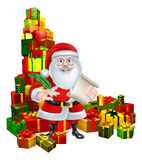 Santa and Gifts List Royalty Free Stock Photo